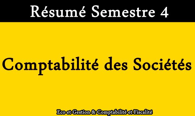 Résumé Comptabilité des Sociétés