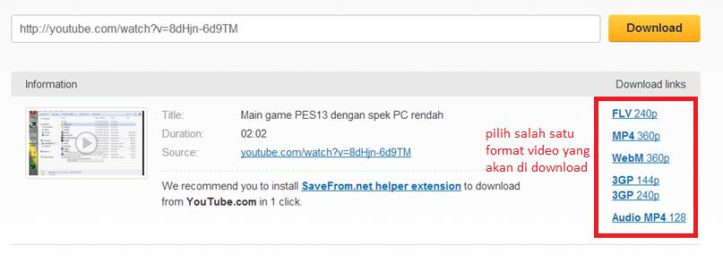 Cara Download Video di Youtube Tanpa Software IDM