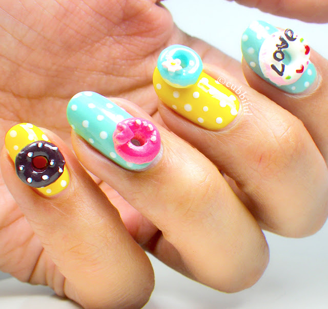 Crazy Donuts Nail Art