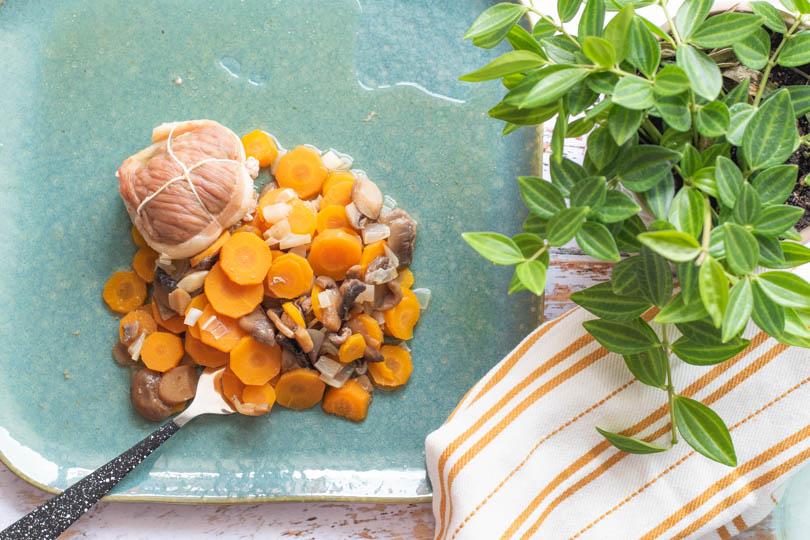 recette Paupiettes veau et carottes au vin blanc