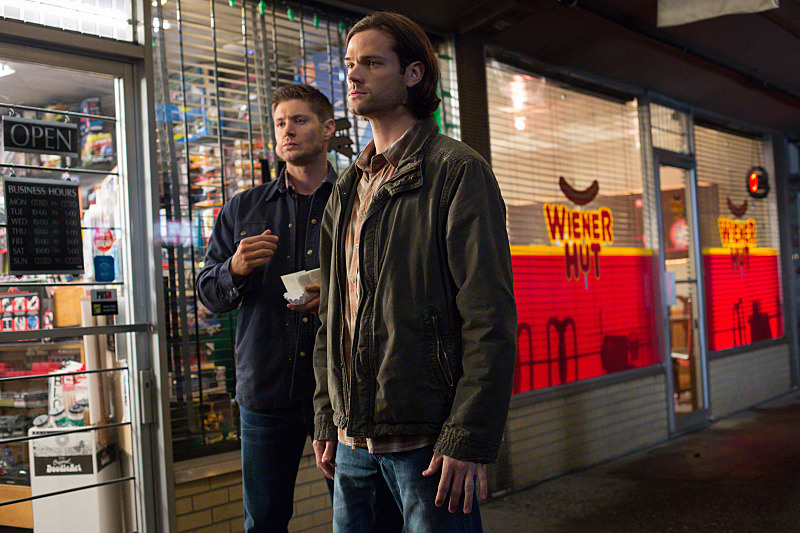 Jensen Ackles and Jared Padalecki as Dean and Sam Winchester in Supernatural 10x09