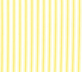 Yellow Ticking Stripe Curtains - Away She Went