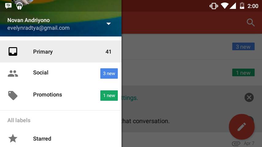 Android Mendapatkan Aplikasi Gmail yang Lebih Baik