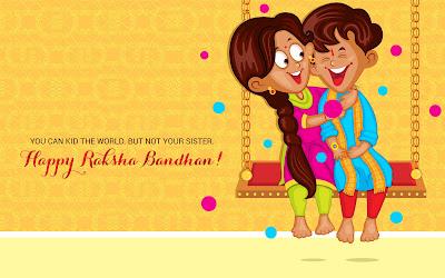Sister & Brother Of Happy Raksha Bandha HD Wallpapers
