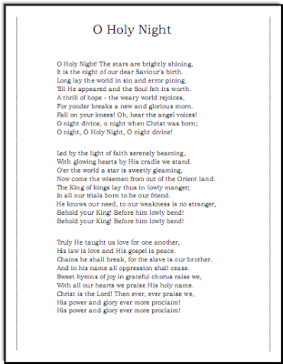 O Holy Night Song Lyrics