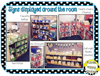 Classroom Library Labels ~ Planet Happy Smiles
