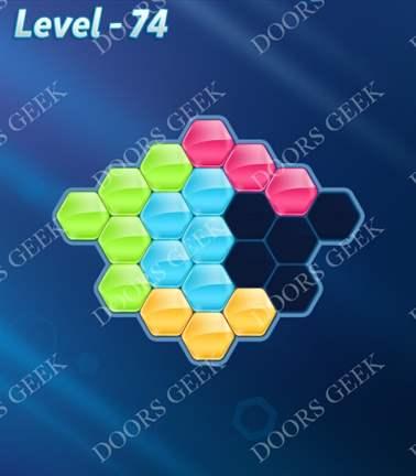 Block! Hexa Puzzle [5 Mania] Level 74 Solution, Cheats, Walkthrough for android, iphone, ipad, ipod