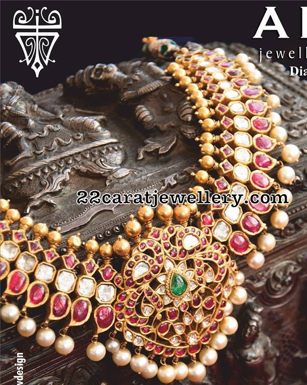 Kundan Necklace by Arnav Jewels