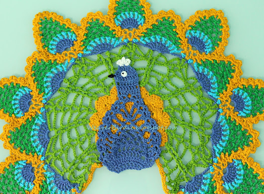 Peacock Doily Or A Wall Hanging? - Mother's Day Gift!