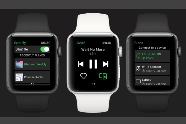 Spotify app for Apple Watch released