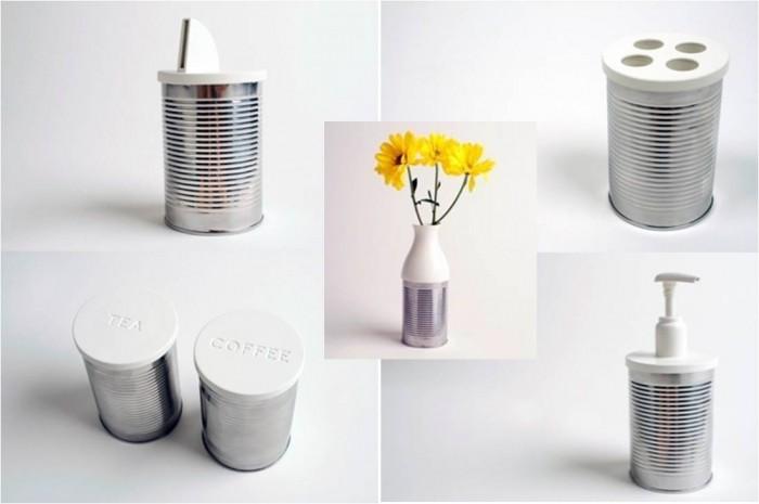 reciclaje con latas