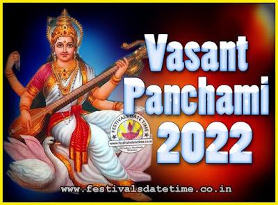 2022 Vasant Panchami Puja Date & Time, 2022 Vasant Panchami Calendar