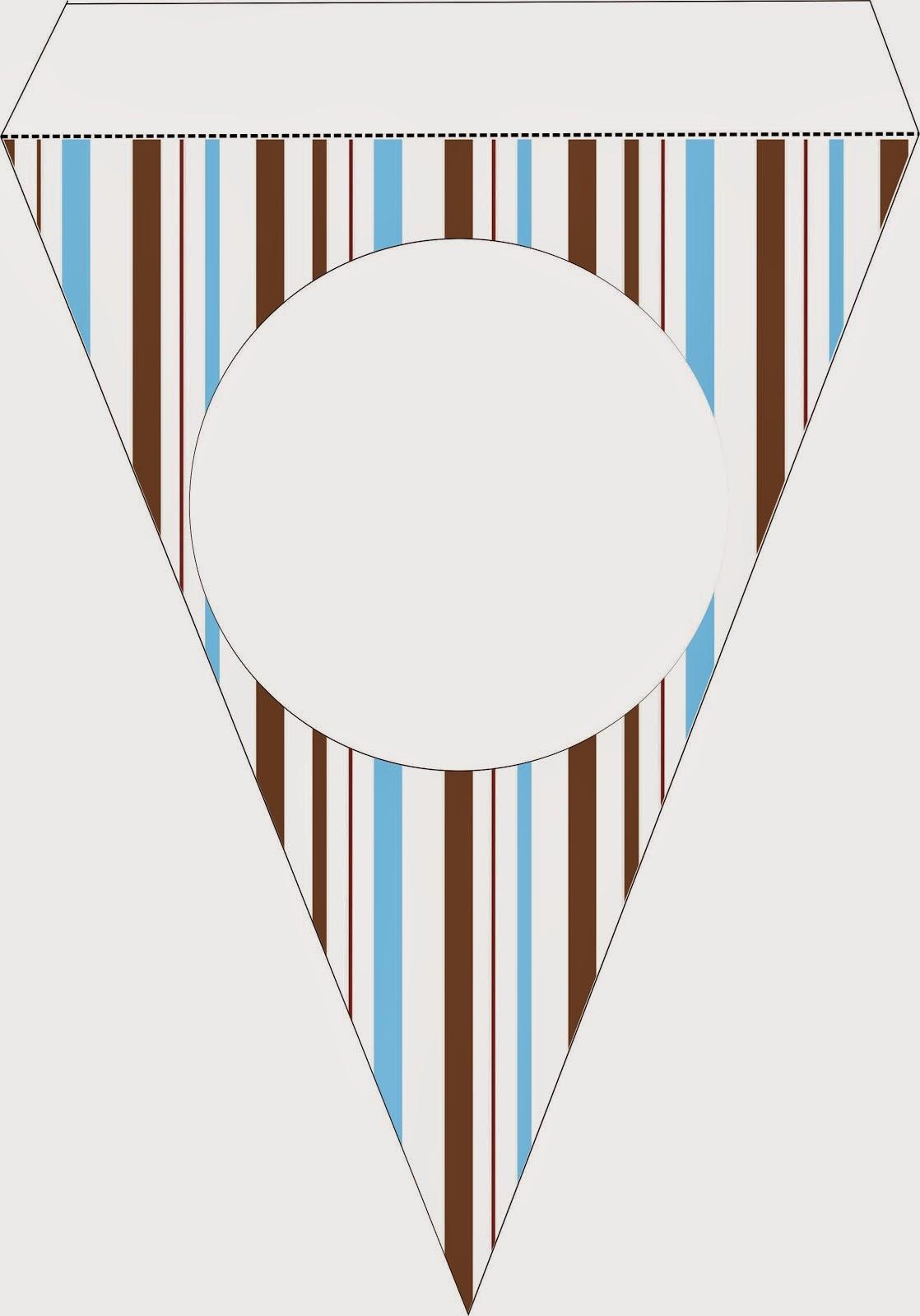 Banderines para Imprimir Gratis de Lindo Osito Marinero.
