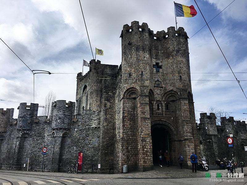 [比利時.根特] 伯爵城堡Gravensteen:城堡上的絕佳視野 俯瞰整個根特(Ghent)市區