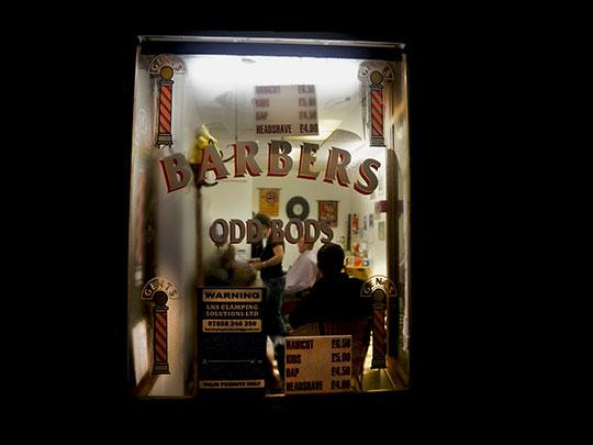 barbers, photography, street photography, window scene, art, contemporary, Sam Freek,