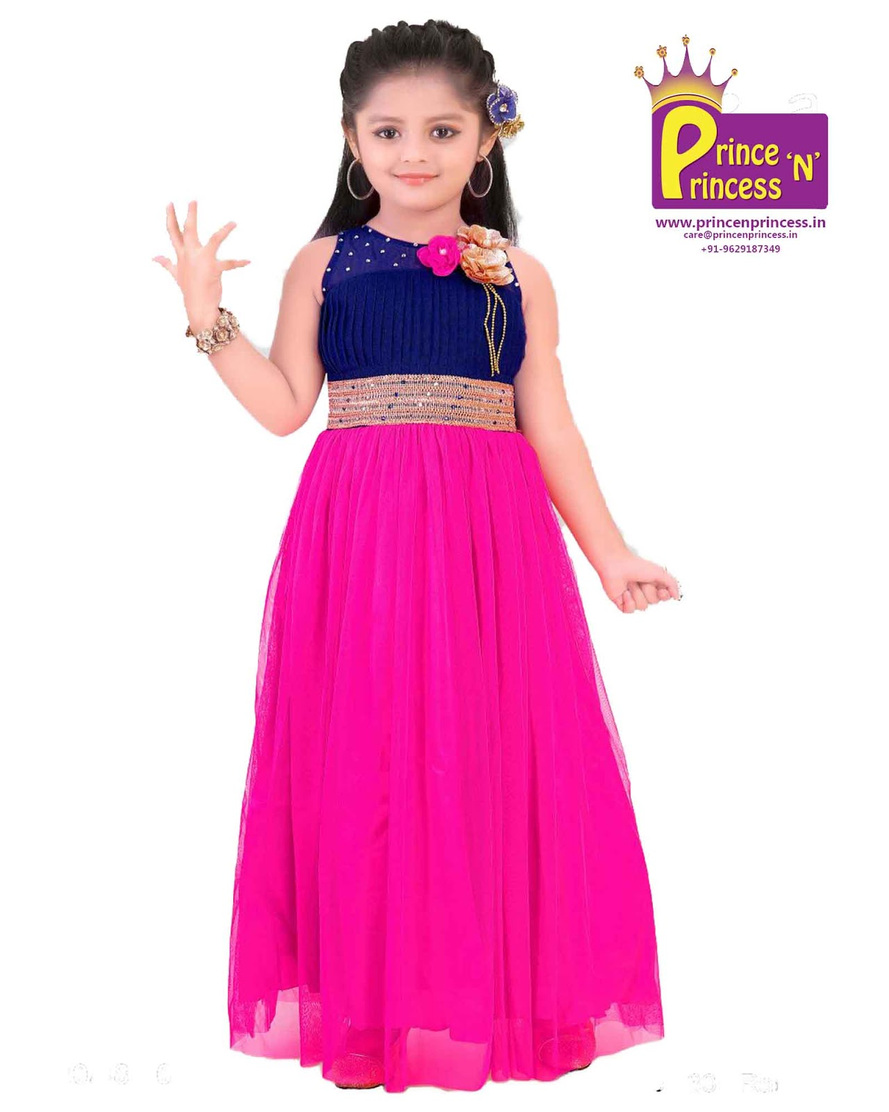 Prince N Princess: Kids Party Frock Gown