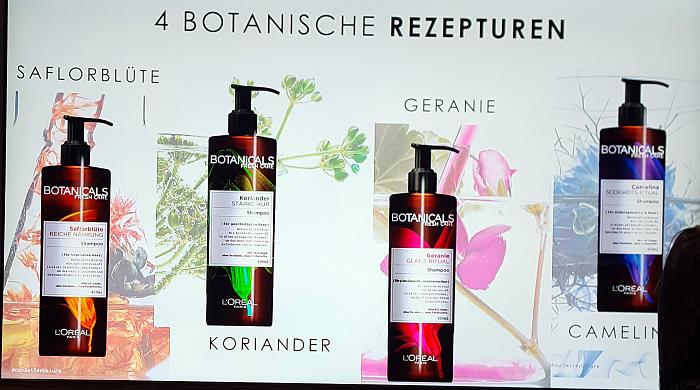 Botanicals Fresh Care - 4 botanischen Rezepturen, Saflorblüte, Koriander, Geranie, Camelina