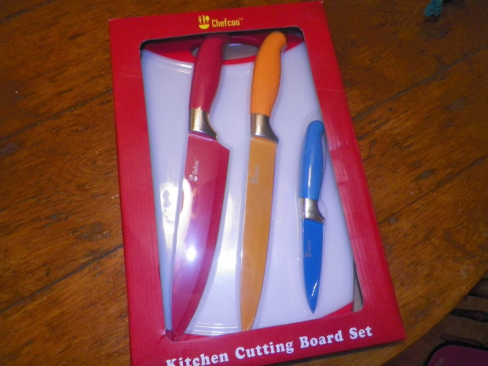 Chopping Knife Set Mygreatfinds Chefcoo Cutting Board Set Plus Non Stick