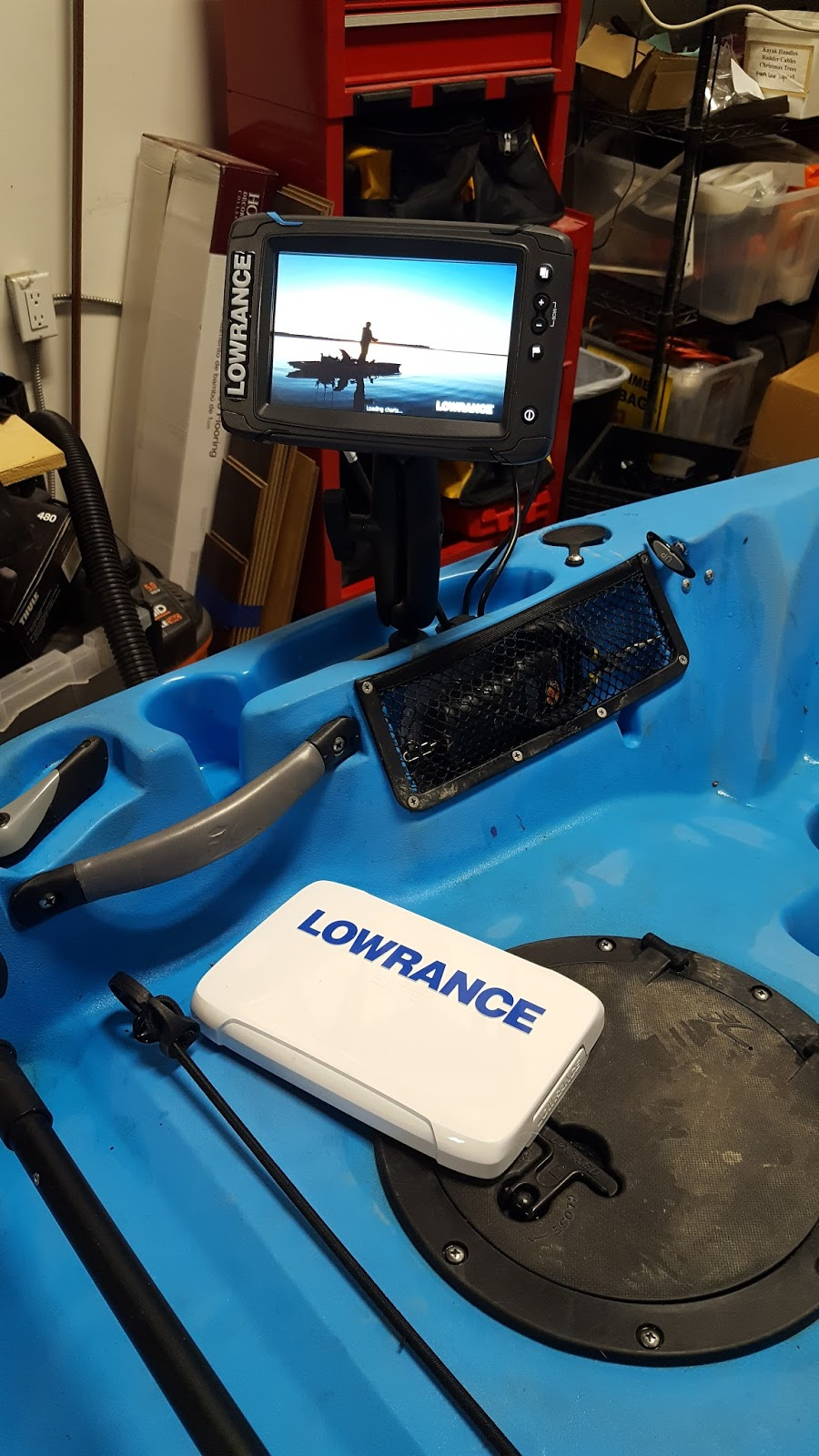 Installing a Lowrance 7TI on a Hobie Outback | Headwaters Kayak Shop