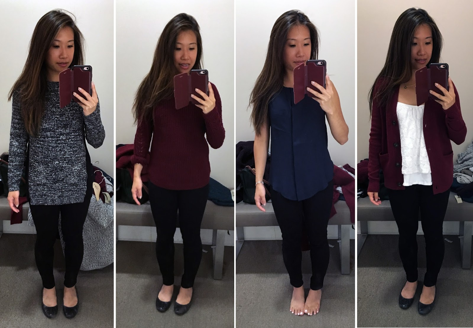 3241e0d297 I ended up leaving with the Petite Blocked Mixed Stitch Tunic Sweater (same  as above but I gravitate towards darker colors and my friend insisted I  only get ...