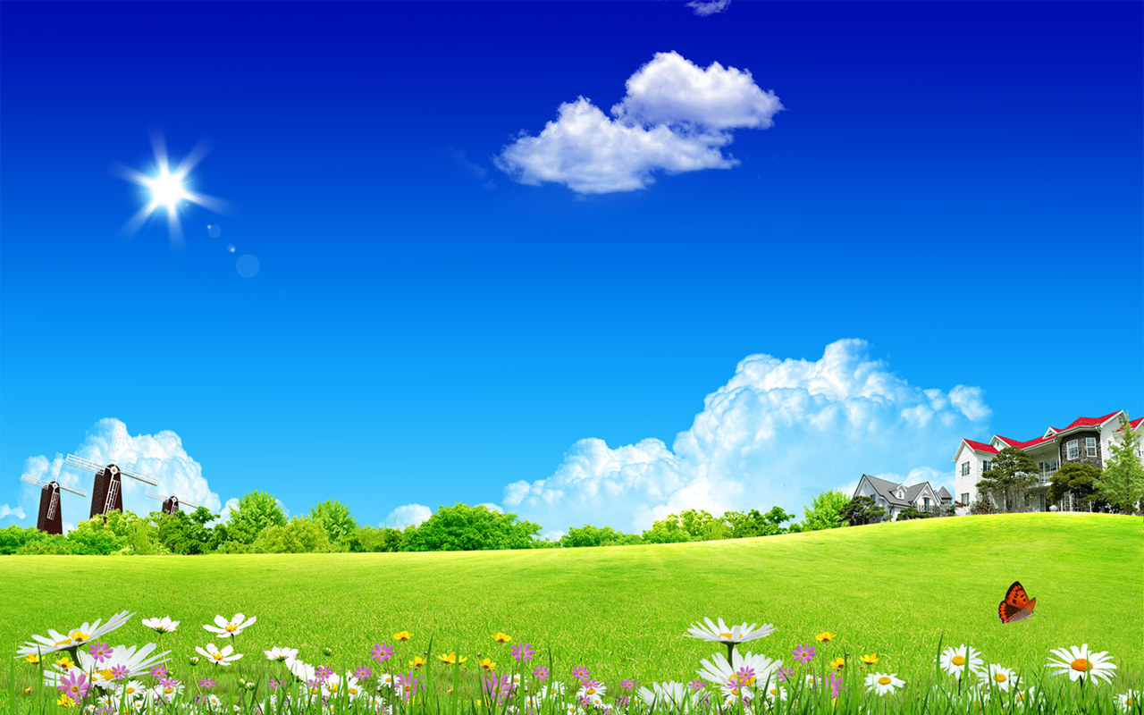 funny pictures gallery: blue sky clouds wallpaper, blue sky