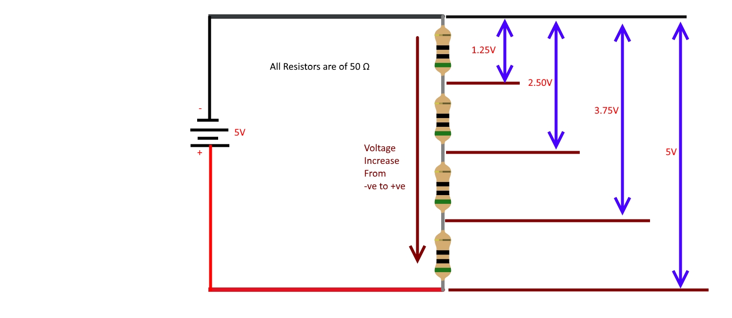 Using Multiple Buttons On A Single Pin Internet Of Things Current Divider Circuits How To Use With Arduino Precautions First Power Voltage Regulator Circuit