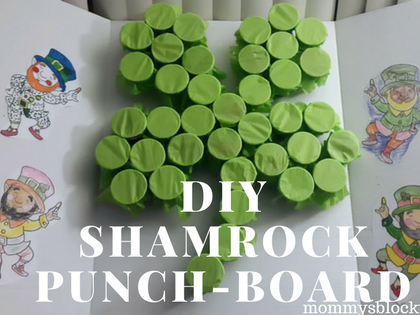 Just in Time for St. Patrick's Day- DIY Shamrock Punch-Board
