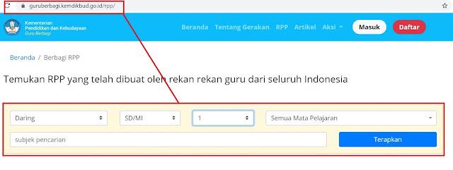 gambar rpp daring kemendikbud