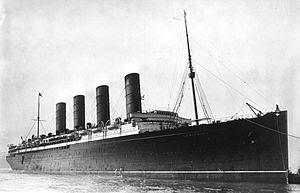 Le Lusitania coulé le 7 mais 1915
