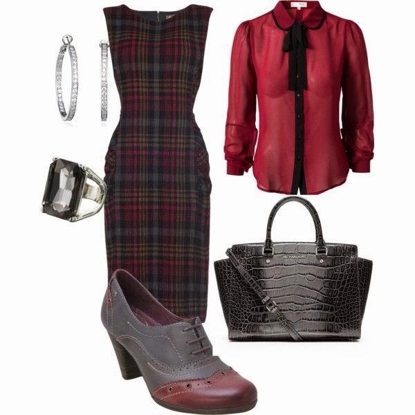 Outfit vestido a cuadros
