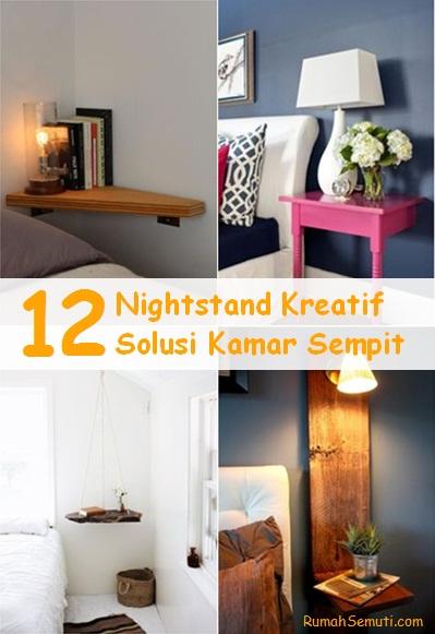 12 Nightstand Kreatif Solusi Kamar Sempit