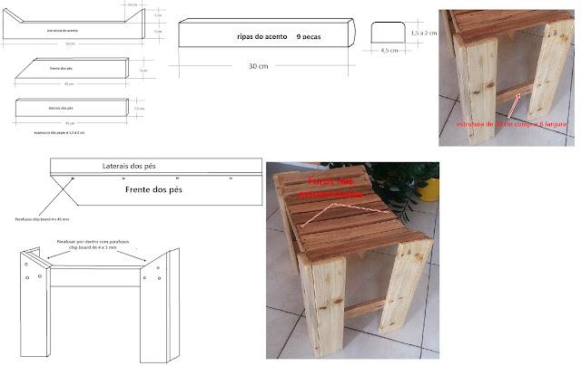 banquinho madeiras
