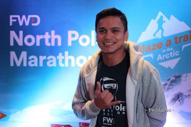 Louie Sangalang, Filipino North Pole Marathon finisher