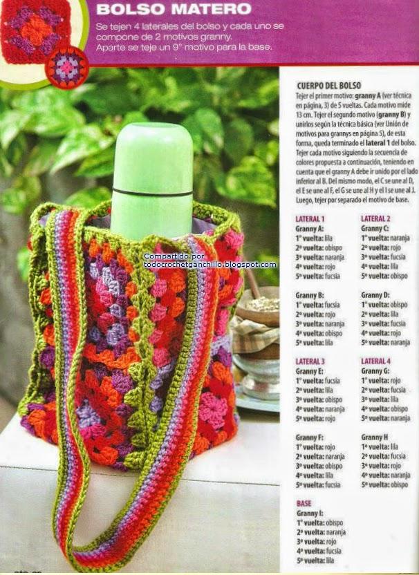 Cartera tricot
