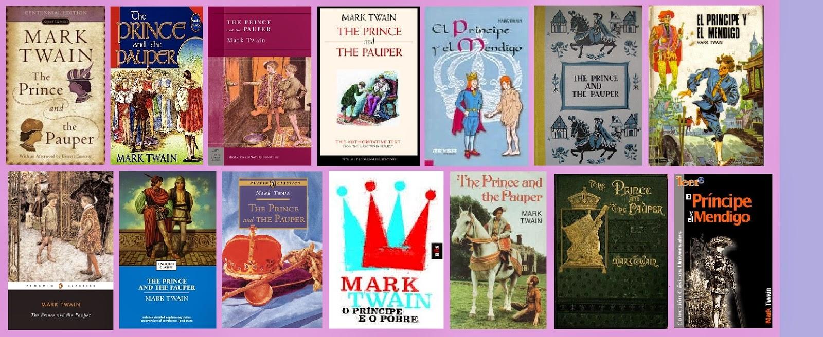Portadas de la novela clásica juvenil El príncipe y el mendigo