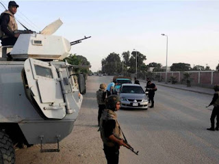 18 policemen killed by an improvised explosive device in an attack in El Arish