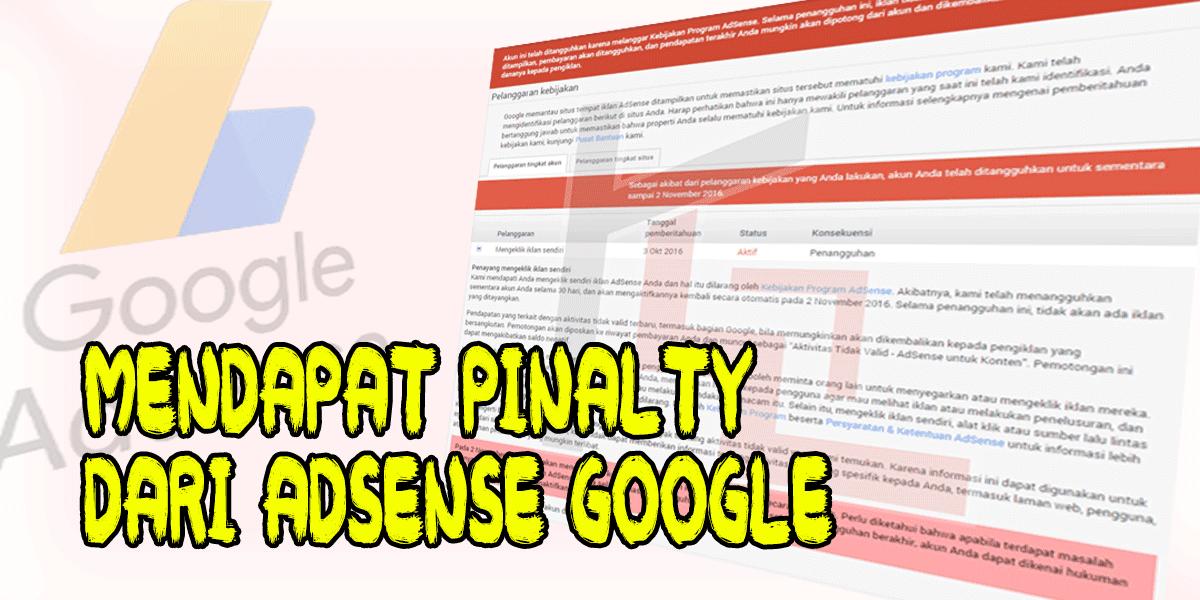 Mendapat Pinalty Dari Adsense Google