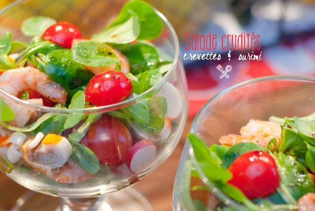 Salade crudit s crevettes surimi je dis m food blog lifestyle en normandie - Entree crudites originale ...
