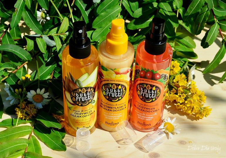 Obłędnie owocowe mgiełki i olejek do ciała Farmona Tutti Frutti