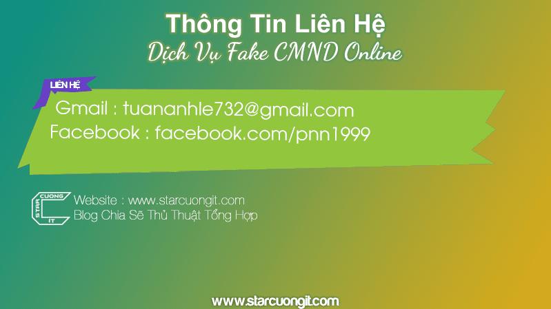 Dịch Vụ Fake CMND Online - Đổi Phôi Lấy PSD FREE