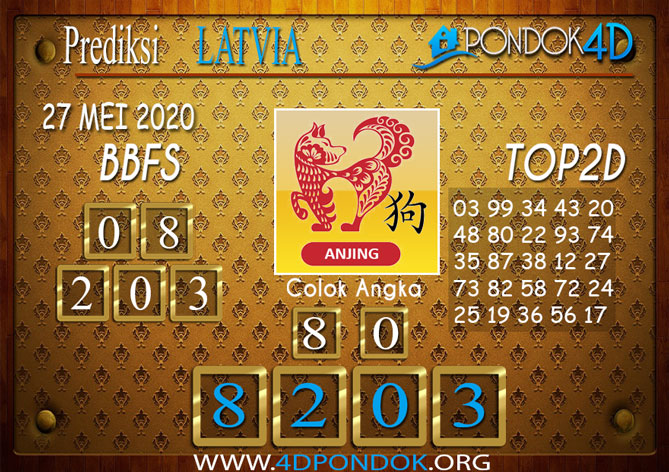 Prediksi Togel LATVIA POOLS PONDOK4D 27 MEI 2020