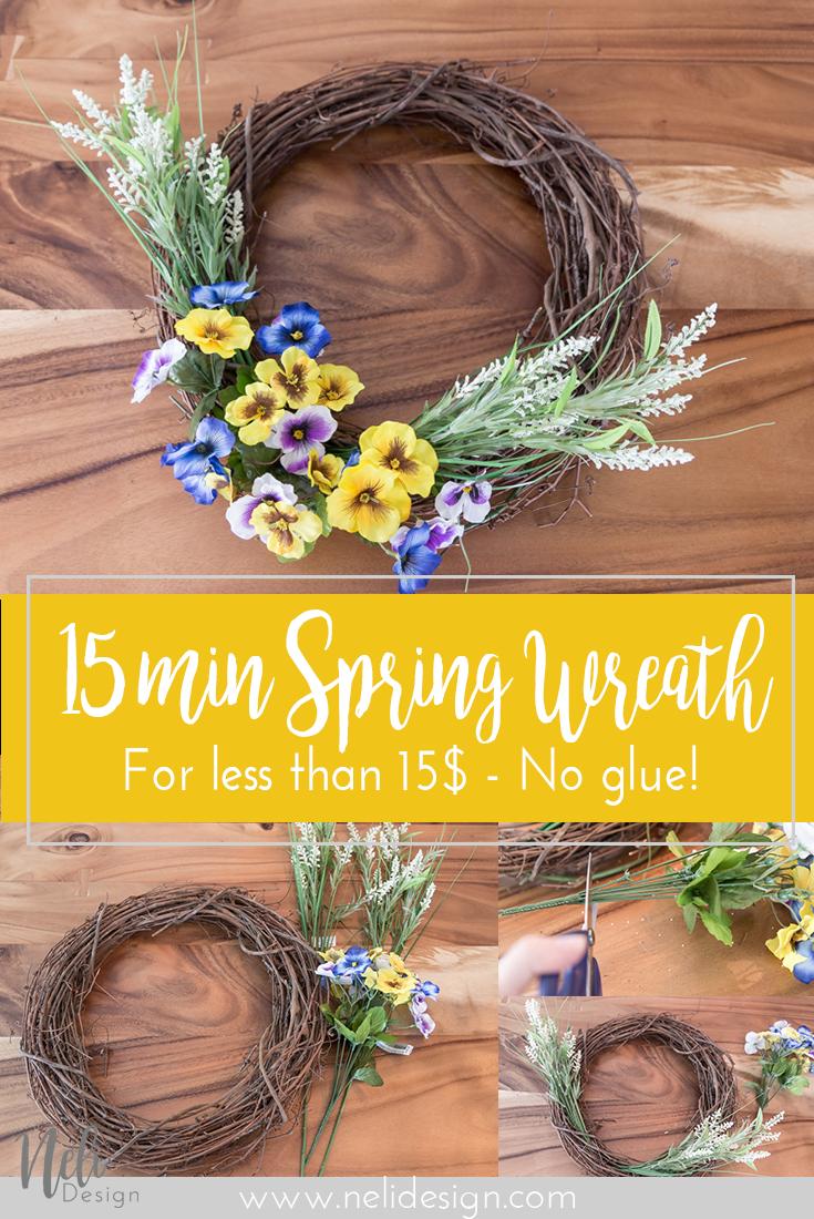 Easy Spring Wreath | Flowers | Home Decor | Porch | Front door | DIY | Tutorial