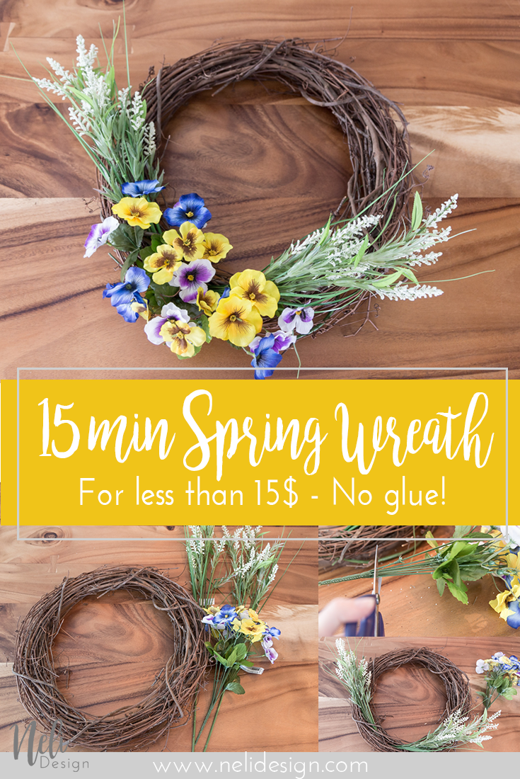 Easy Spring Wreath | Flowers | Home Decor | Porch | Front door | DIY | Tutorial