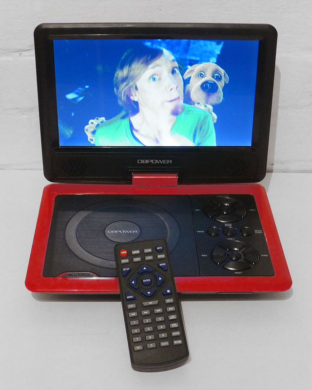 Dbpower 9 5 portable dvd player with swivel screen 300 for Gamer v portable