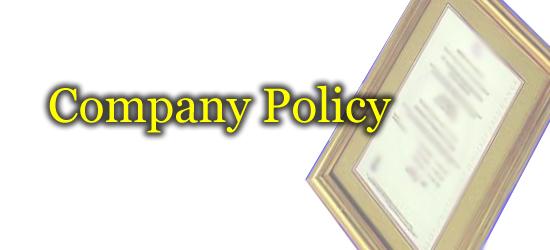 kebijakan perusahaan, company policy