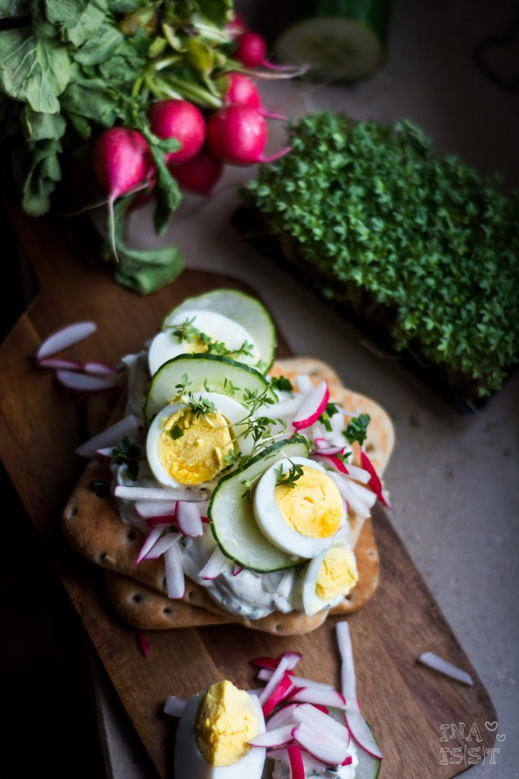 Eierbrot Eiersandwich Eierstulle Schnittlauchcreme Sandwich Abendbrot