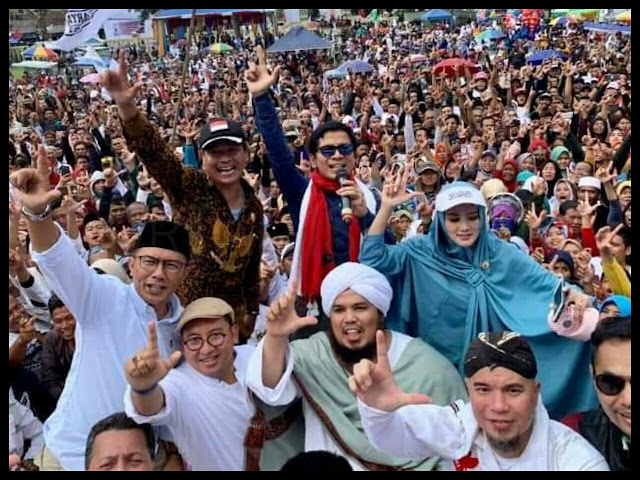Tanpa Drama Cukur Rambut, Deklarasi Dukung Prabowo-Sandi Pecah di Garut