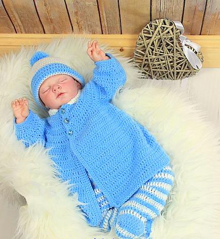 Baby coat Crochet pattern, baby pants crochet pattern, baby hat crochet pattern, baby clothing set crochet pattern #crochetbaby