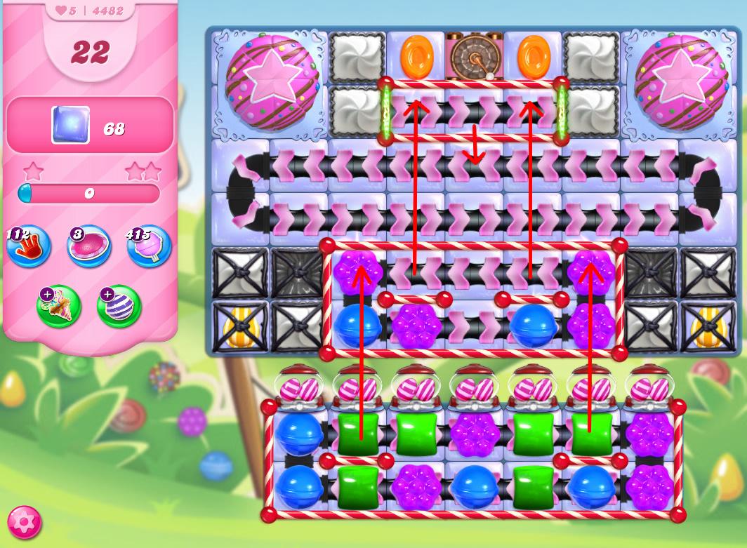 Candy Crush Saga level 4482