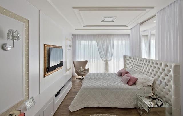 decoração-classica-quarto-casal-branco